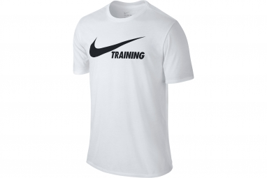 maillot homme nike swoosh blanc