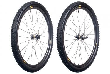 paire de roues mavic 2017 crossmax pro carbon wts 29 boost 15x110 mm 12x148 mm corps