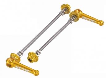 kcnc blocages de roues vtt titane or 44 gr