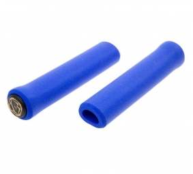 esi paire de grips chunky silicone bleu 32mm