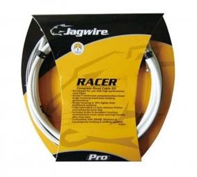 jagwire kit complet racer route derailleurs freins blanc