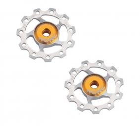 kcnc paire de galets de derailleur light silver