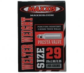 maxxis chambre a air welter weight 29 x 1 9 2 35 valve presta 29 pouces