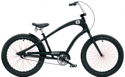 electra velo complet beach cruiser straight eight 3i noir
