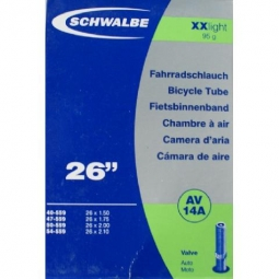 schwalbe chambre a air xx light 26x1 5 2 1 schrader