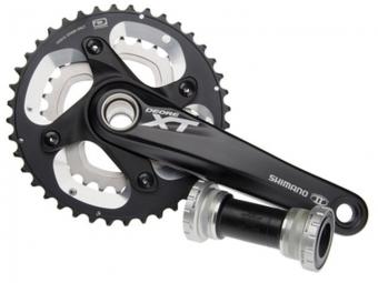 shimano pedalier xt hollowtech ii fc m785 noir 175mm 26 38 boitier 2x10v