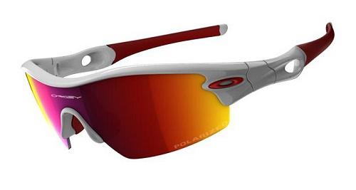 oakley radar pitch sunglasses polished white red polarized ref 09 rh alltricks com
