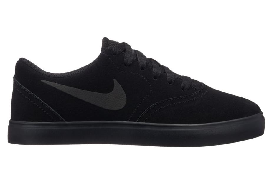 Nike SB Boys Shoes Check Suede Black
