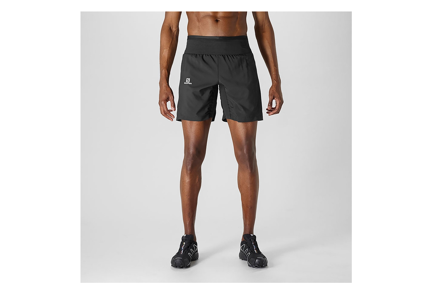 Short Homme Salomon Trail Runner Twinskin Black