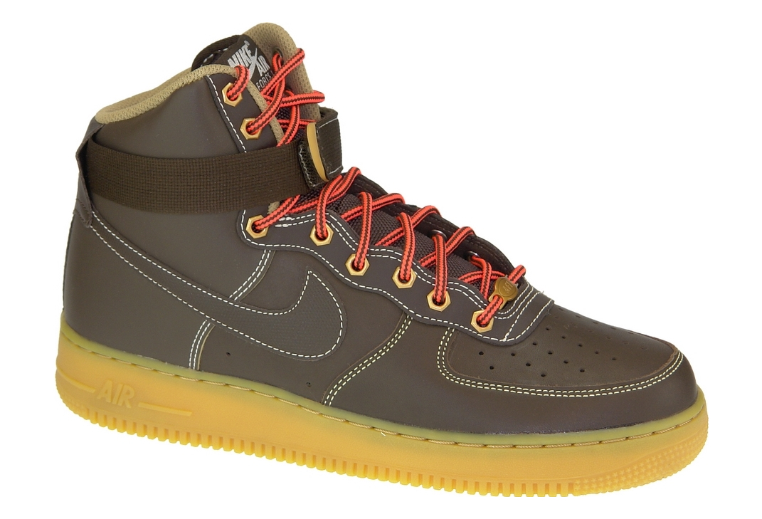 design de qualité 14aa1 10377 Nike Air Force 1 High 315121-203 Homme chaussures de skate Marron