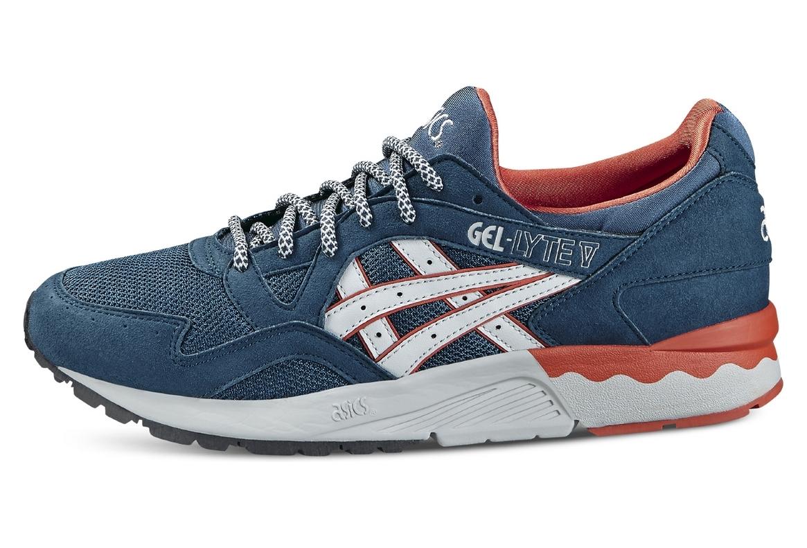 acheter en ligne 61f28 d1c92 Asics Gel Lyte V H6A2Y-4510 Femme chaussures de sport Bleu foncé