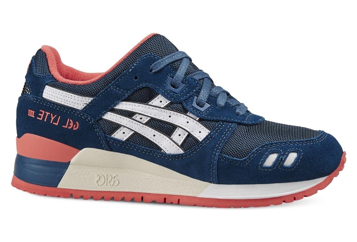 vente chaude en ligne 9fd3f f9e89 Asics Gel-Lyte III HN553-5801 Femme sneakers Bleu foncé