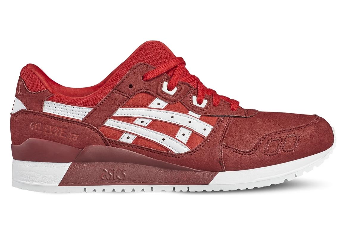 acheter pas cher 65fbf 05a65 Asics Gel Lyte III H7K4Y-2301 Homme chaussures de sport Rouge