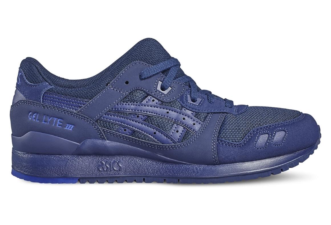 nouveau concept 3f155 a841c Asics Gel-Lyte III H7N3N-4949 Non Communiqu? sneakers Bleu fonc?