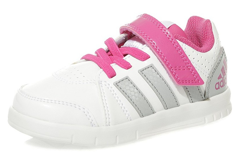 photos officielles c55c5 aa035 Chaussures LK Trainer 7 Blanc Rose Fille Adidas