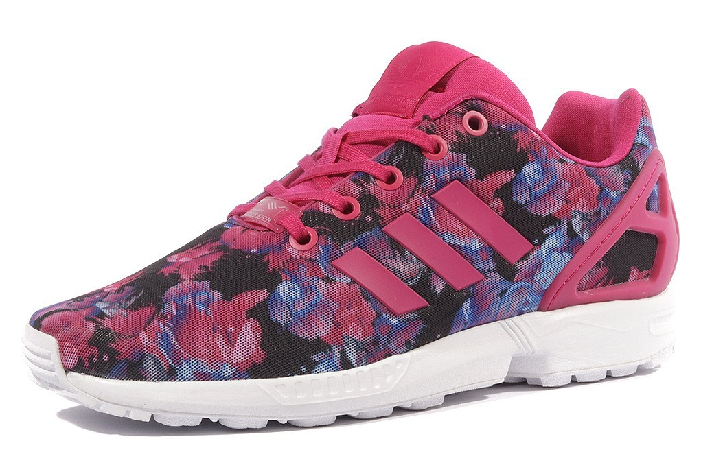 super populaire f9ac5 d9704 ZX Flux Femme Fille Chaussures Rose Adidas