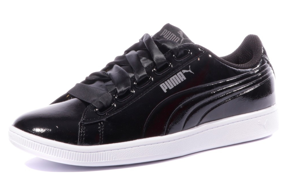Vikky Femme Chaussures Puma Ribbon Noir EYWHID2be9