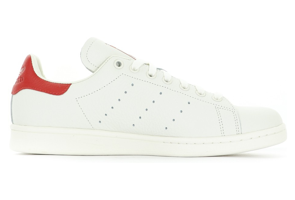 Stan Smith Homme Chaussures Ecru/Rouge Adidas