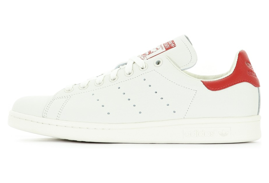 chaussures de sport 31119 10179 Stan Smith Homme Chaussures Ecru/Rouge Adidas