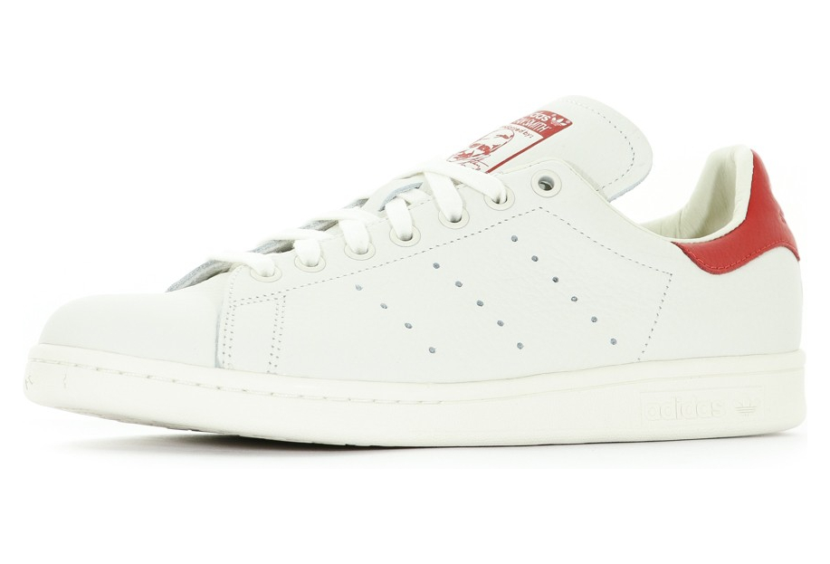 cheap prices order nice cheap Stan Smith Homme Chaussures Ecru/Rouge Adidas