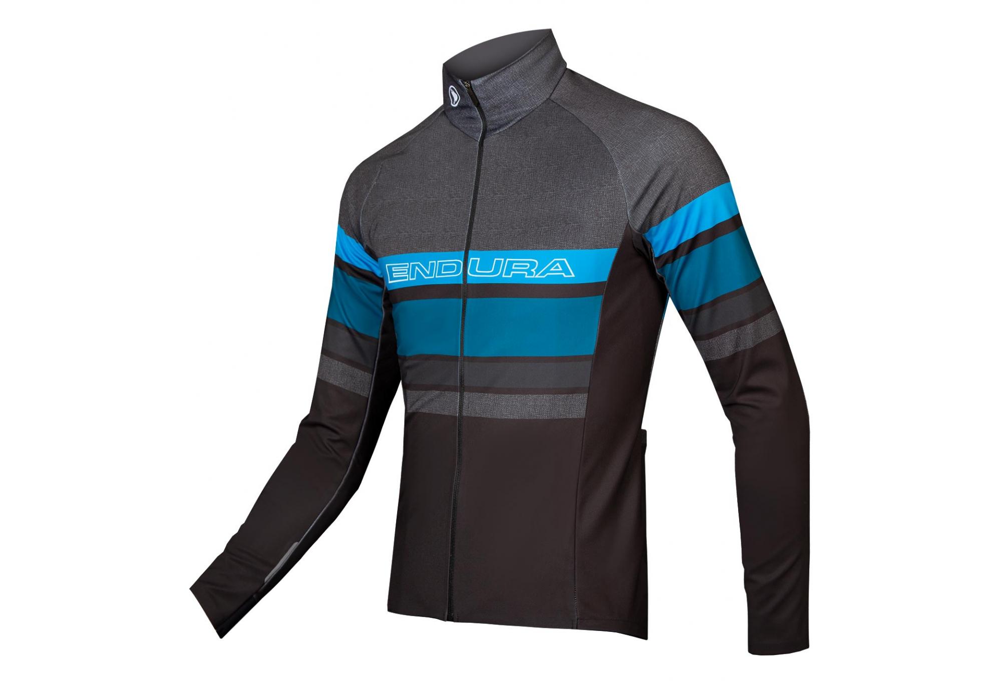 Veste de course en jersey à capuche semi zippée