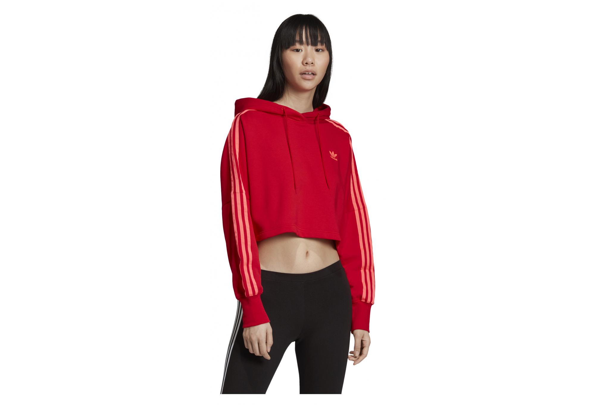 Sweat à capuche femme adidas cropped