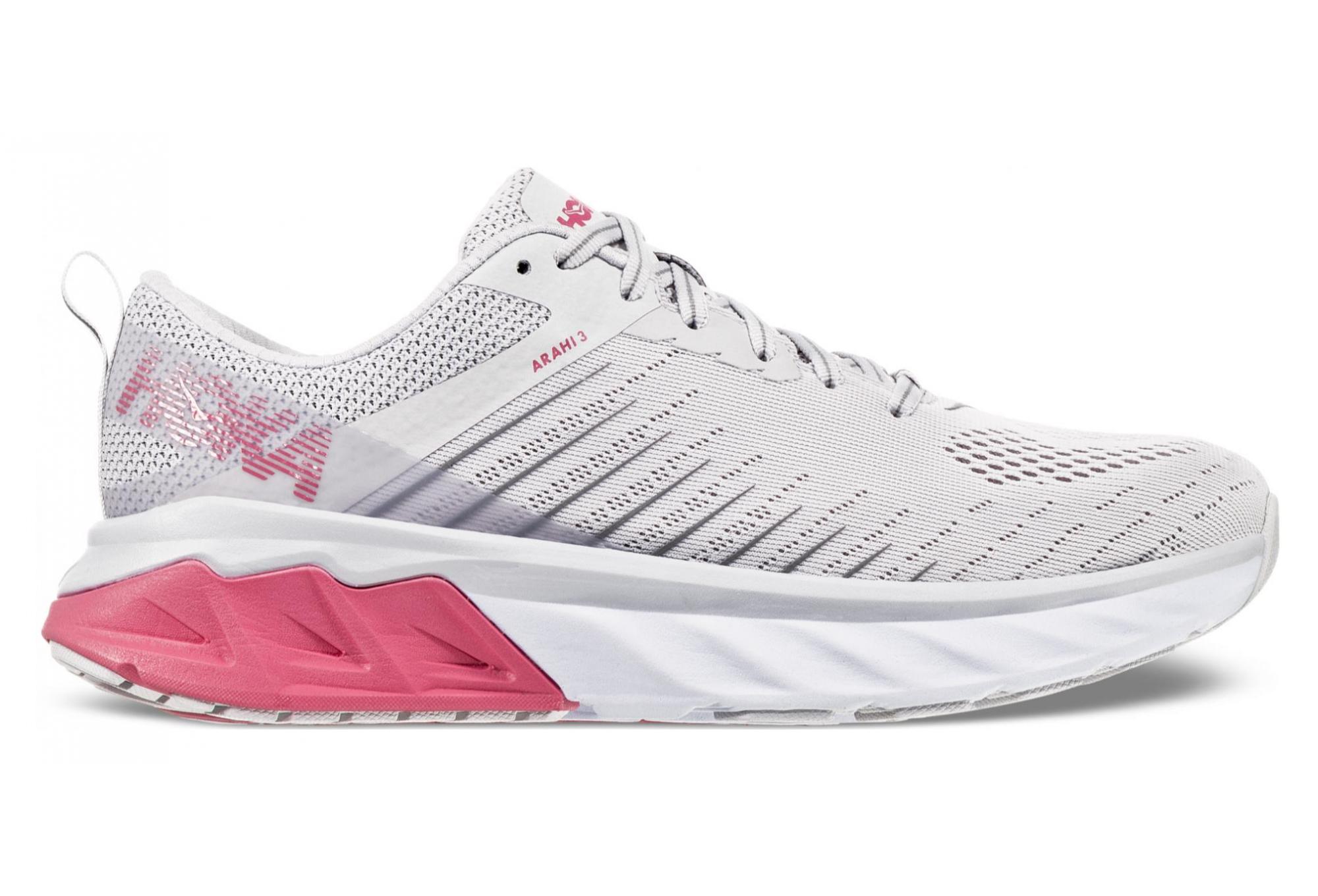 Hoka One One Arahi 3 White Pink Women