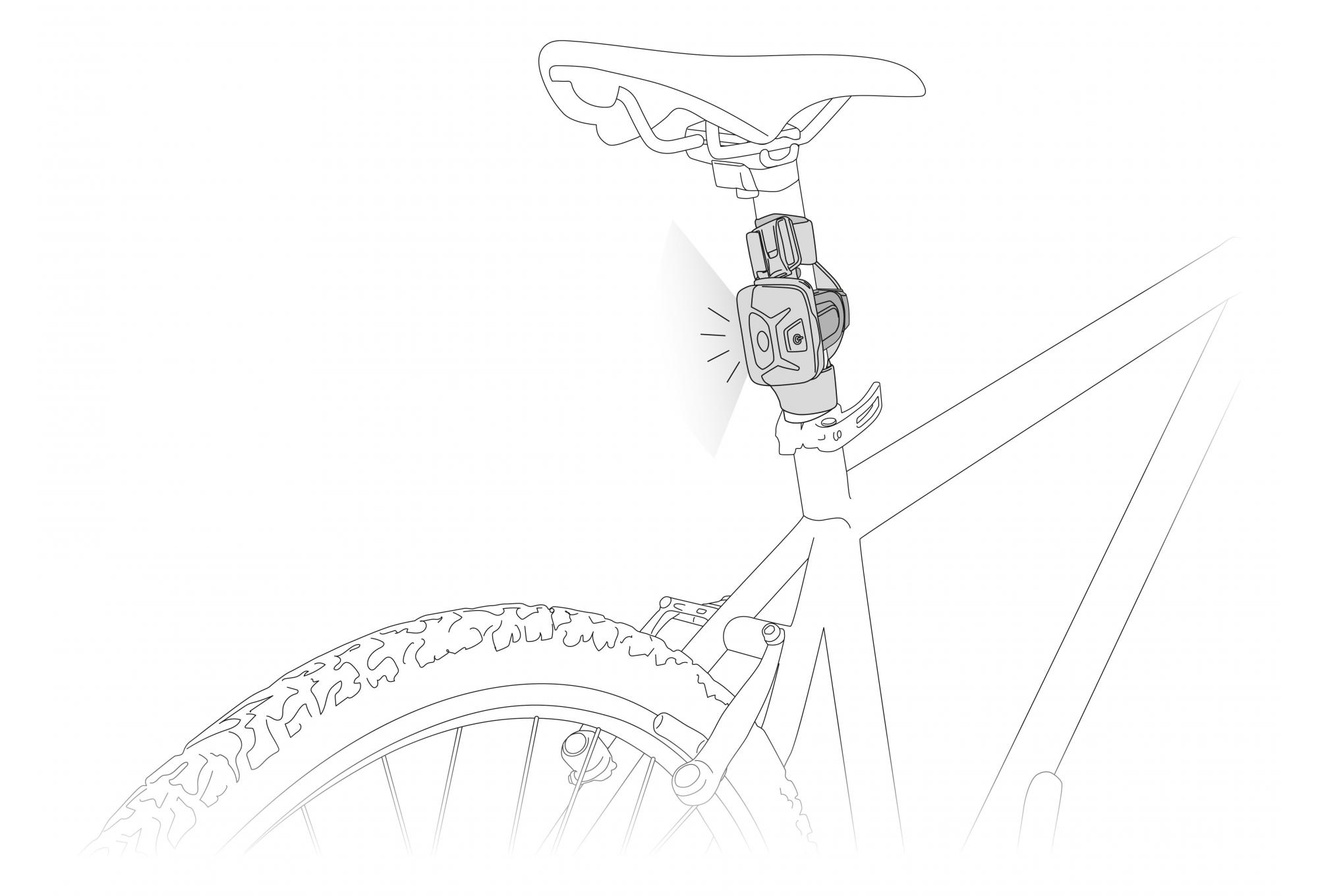 Seat Post Petzl Bike Adapt Plate To Mount Petzl Headlamp Cycle Handlebars