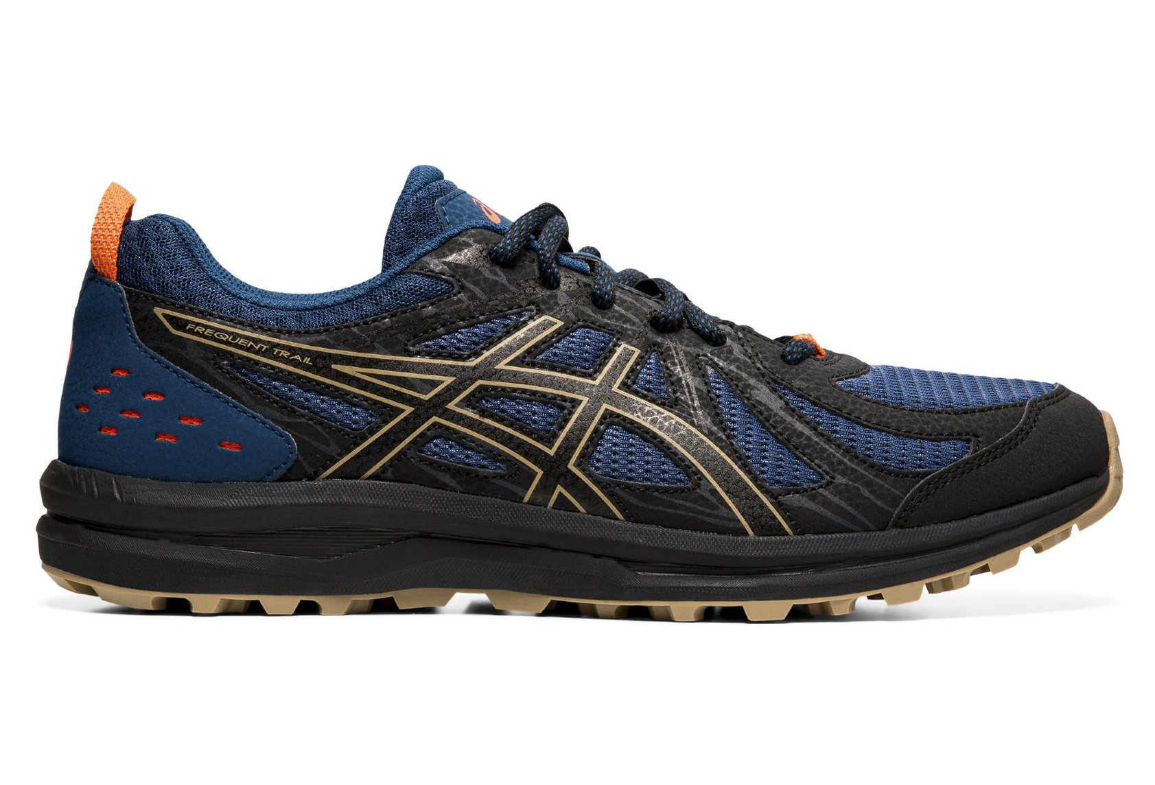 Asics Frequent Trail Trail Zapatos Azul Negro Hombres