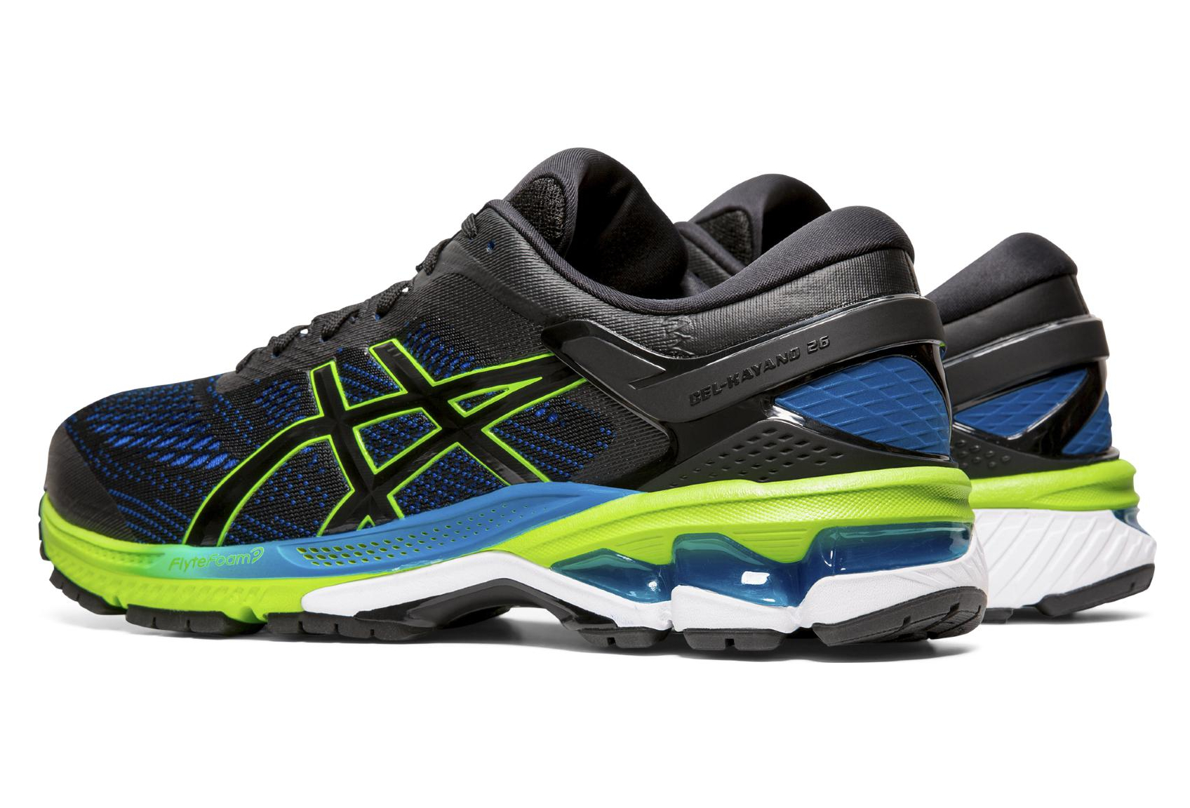 Asics Gel Kayano 26 Black Blue Green Men