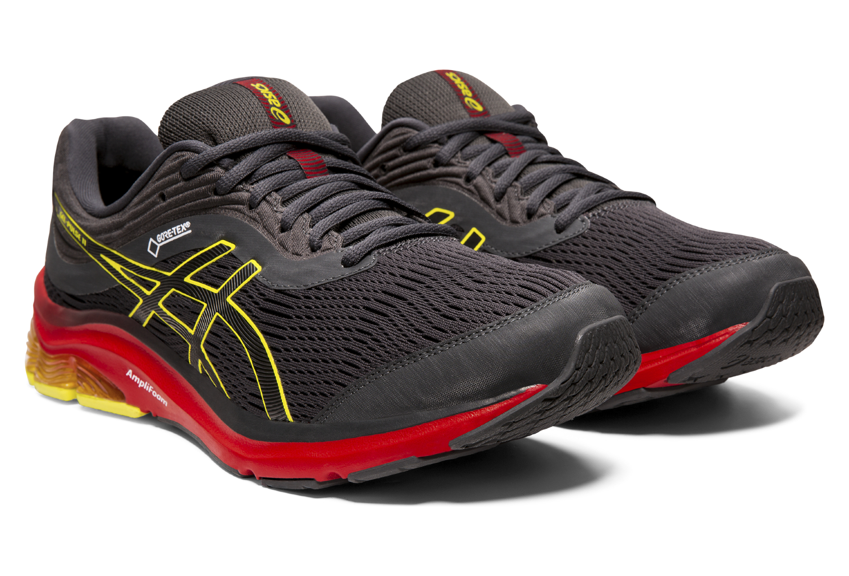 Asics Gel Pulse 11 GTX Grey Yellow Red Men