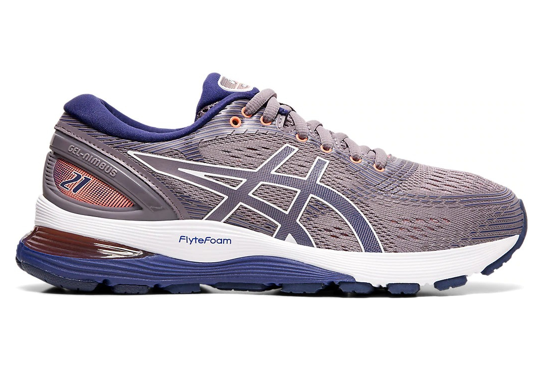 Asics Gel Nimbus 21 Purple Blue Women