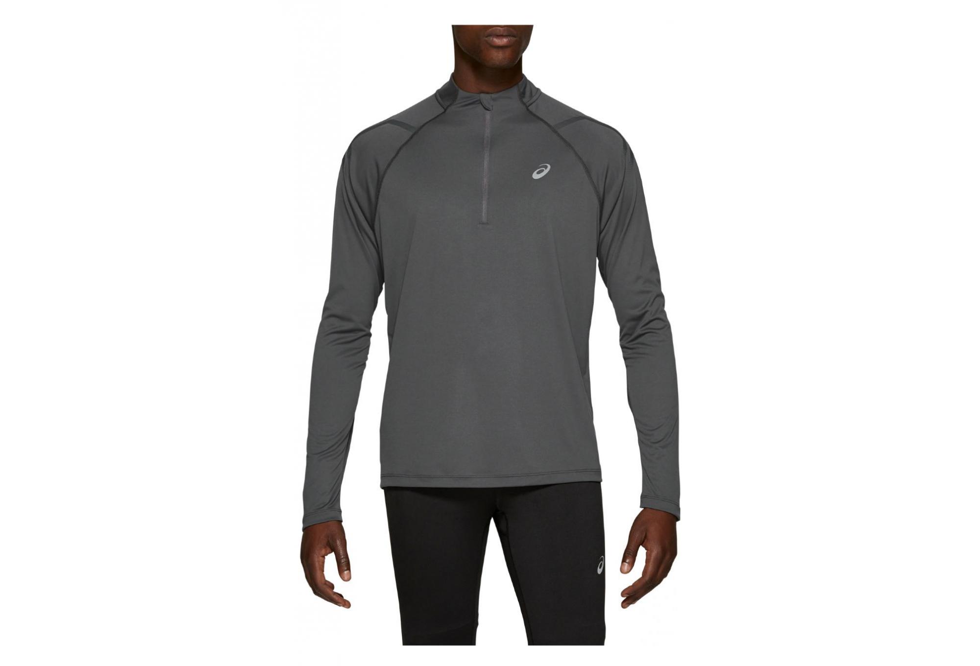 Asics 1/2 Zip Long Sleeves Jersey Icon Grey Men