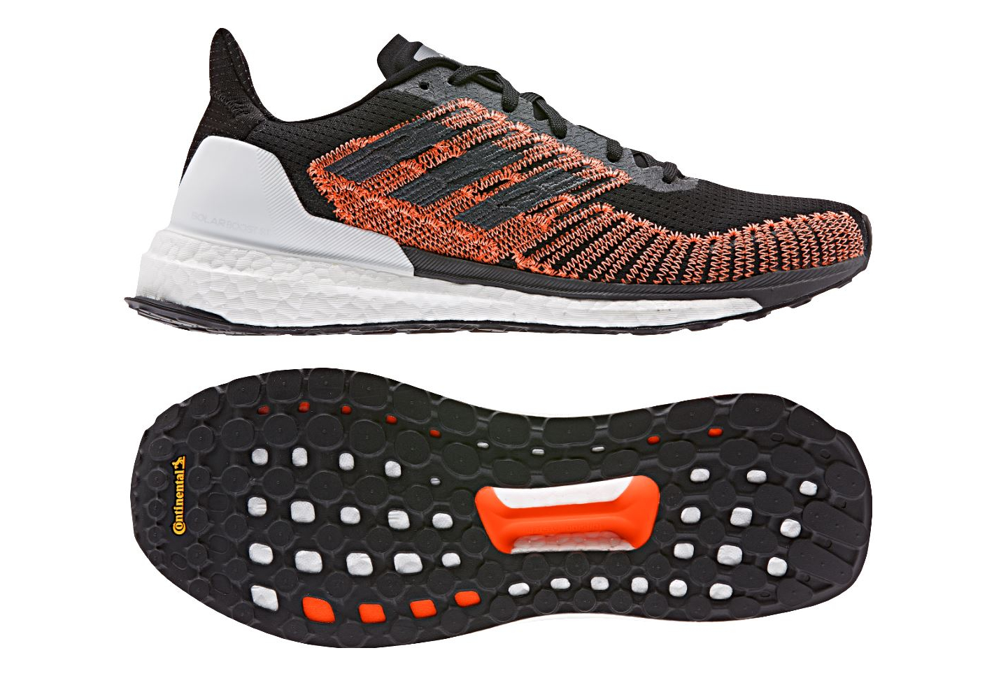 Noir Adidas Running Boost Chaussures Solar Orange De mNOv8w0n