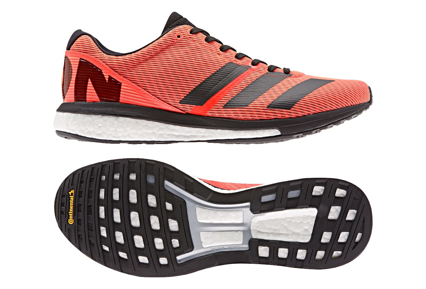Adidas adizero Boston 8 zapatillas running naranja negro