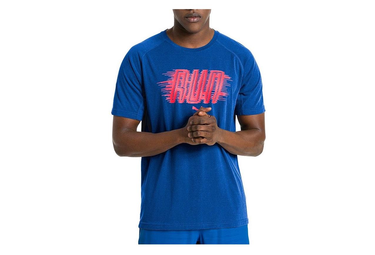 regarder 7bc5a 8d3d0 Tee shirt Running Bleu Homme Puma