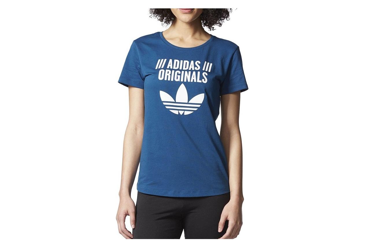 nouvelle arrivee 68984 d14f0 Tee-shirt Bleu Femme Adidas