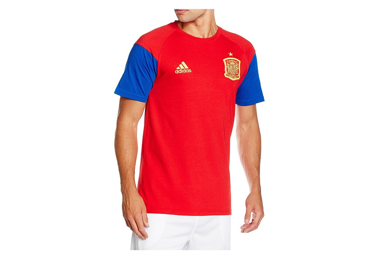 cheap sale reputable site new styles Tee-shirt Espagne Football Rouge Homme Adidas