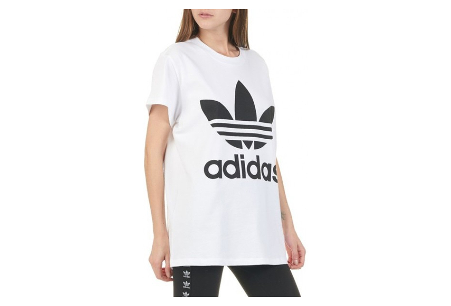 tee shirt blanc adidas femme