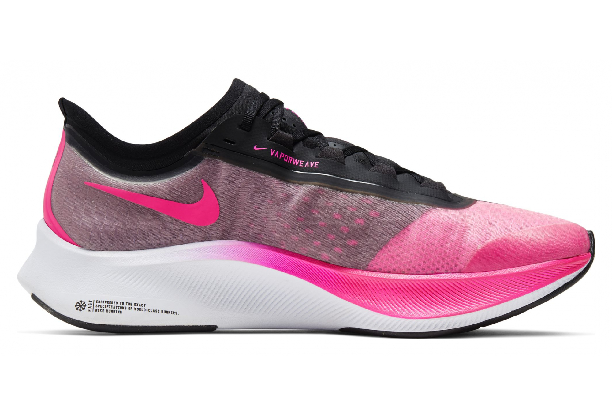 best deals on lace up in entire collection Nike Zoom Fly 3 Pink Black Men | Alltricks.com
