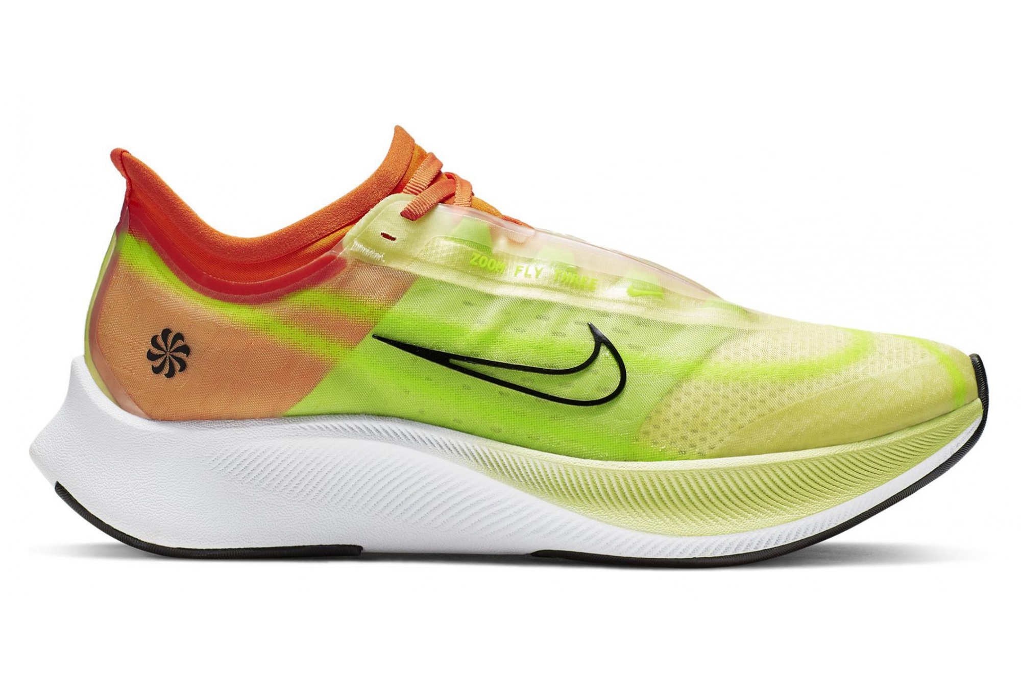 speical offer top brands best quality Chaussures de Running Femme Nike Zoom Fly 3 Rise Jaune / Orange ...