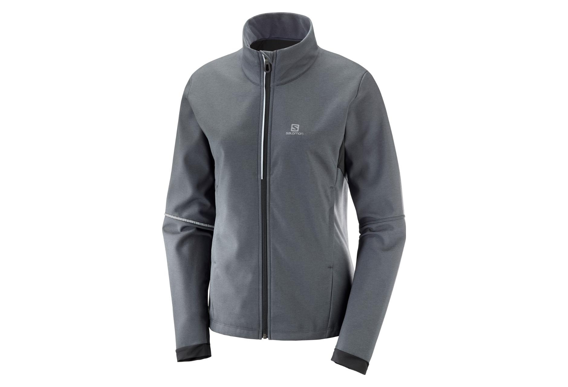 huge selection of 11d0c 2123c Salomon Jacket Softshell Agile Grey Women