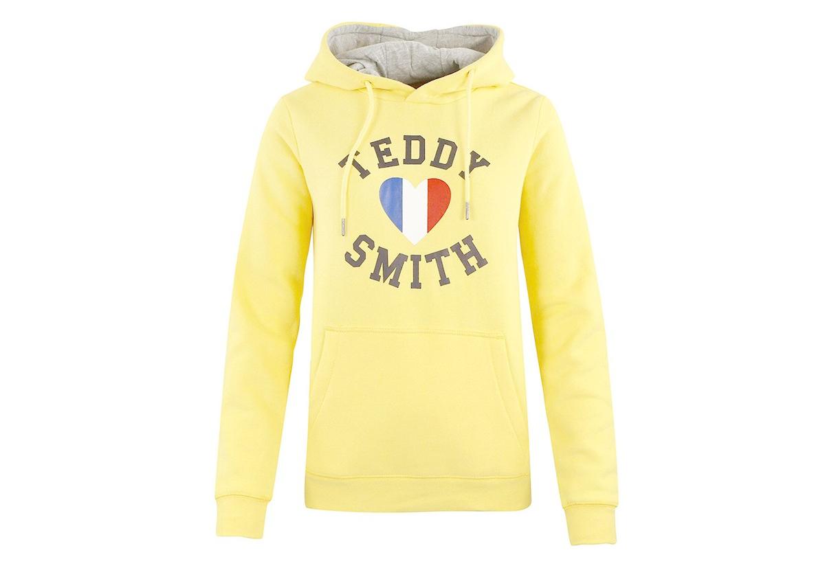 réflexions sur en vente en ligne vente énorme Sweat Jaune Femme Teddy Smith Sofrench