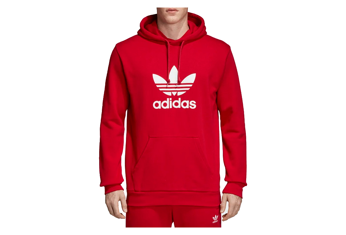 new authentic reasonable price save up to 80% adidas Originals Trefoil Hoodie DX3614 Homme sweat-shirts Rouge
