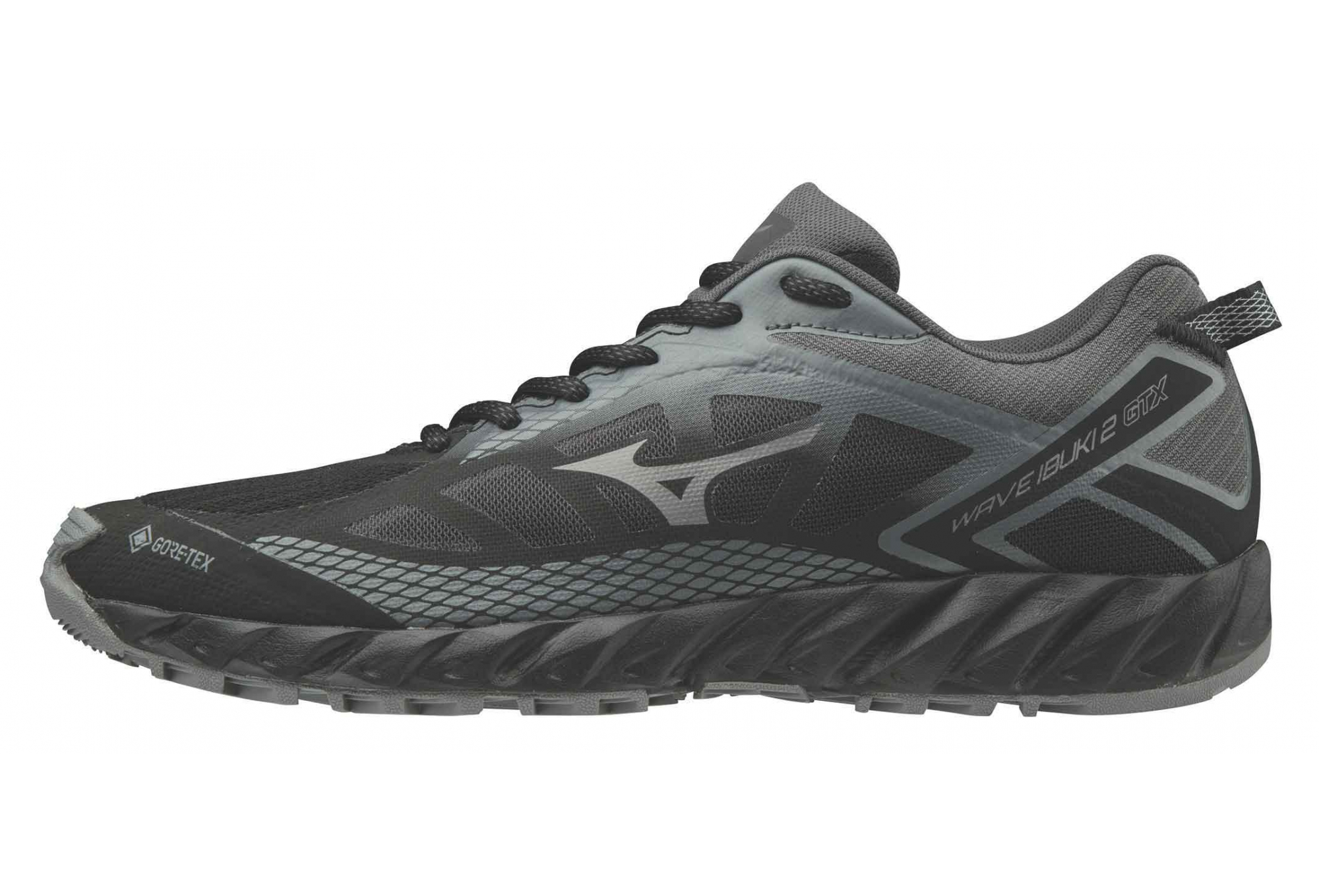 Grey Mizuno Wave Ibuki 2 Mens Trail Running Shoes