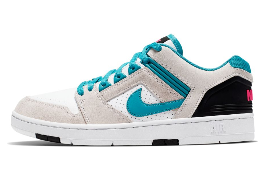 Nike SB Air Force II Low Shoes White Turquoise Nebula Black Pink