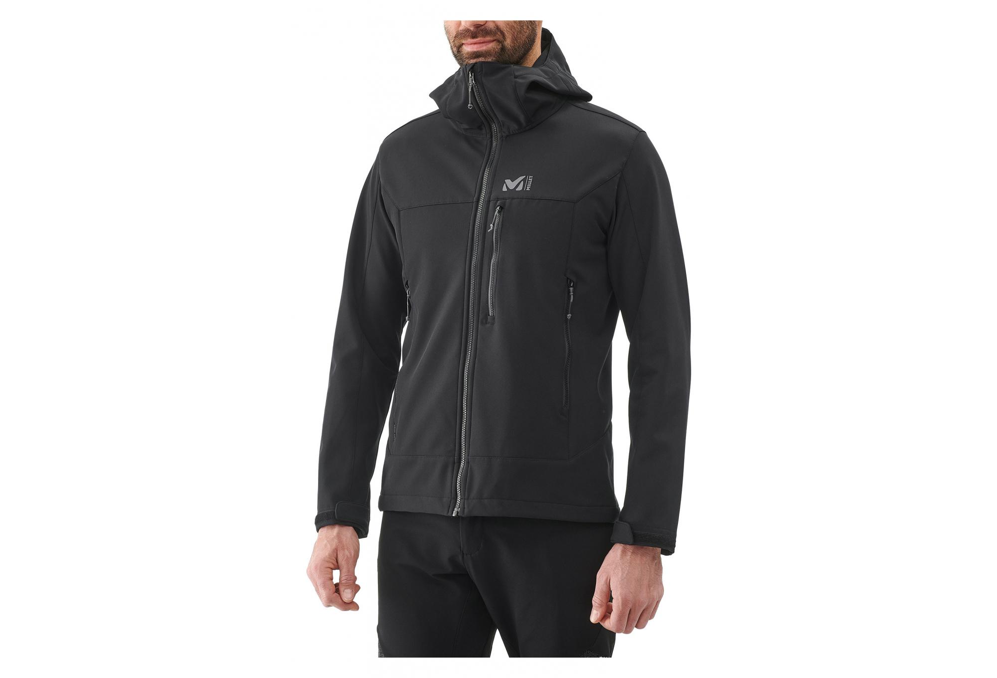 MILLET Mens Track Hoddie M Softshell Jacket