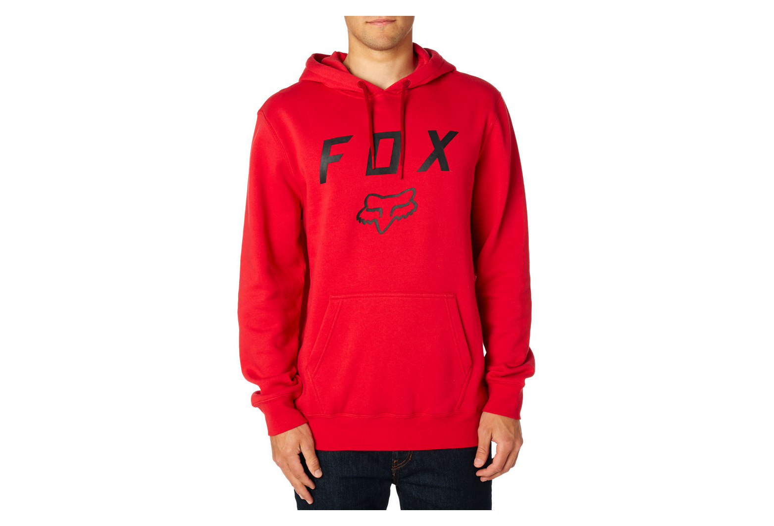 Sweat à Capuche Fox Legacy Moth Fleece Rouge Bordeaux