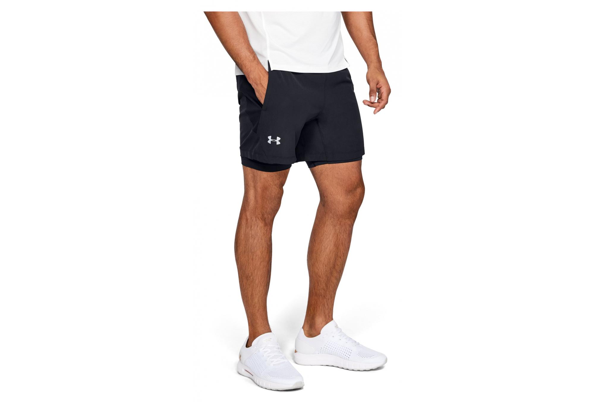 precio descuento especial moderno y elegante en moda Under Armour Qualifier Speedpocket 2-in-1 Shorts Black   Alltricks.com