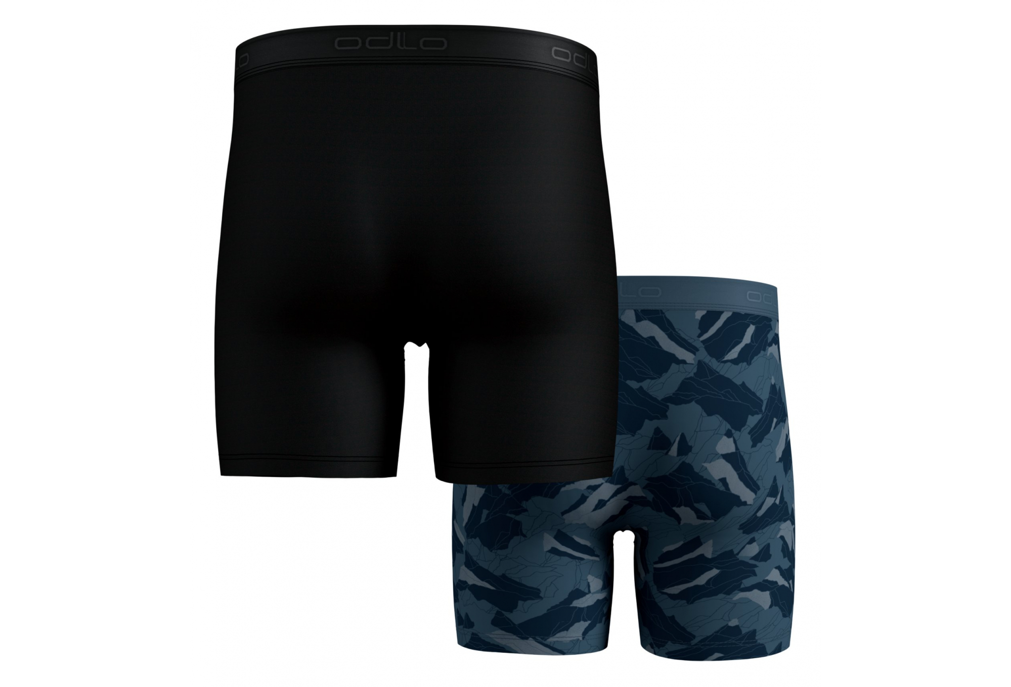 Odlo Mens ACTIVE EVERYDAY Boxers 2-Pack Black Blue Sports Running Outdoors